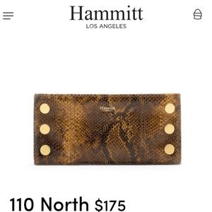 "HAMMIT 110 NORTH ""REPTILE"" LEATHER!! BRAND NWT!!"